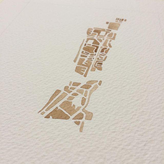Exciting new commission #Estonia #summitridgestudio #watercolor #etsy #sepia #painting #art #instaart #collectors #map #travel