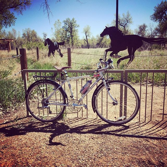On a steel horse I ride #surly #surlylht #bemoremike #denver #starkranch