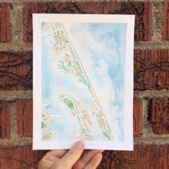 Here is the original. Which do you like more? #OBX #watercolormap