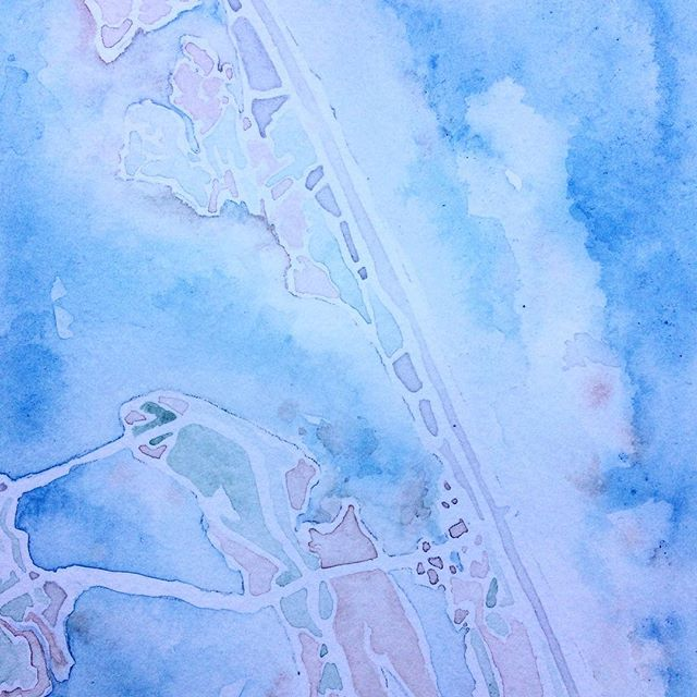 Layers #summitridgestudio #watercolor #northcarolina #OBX