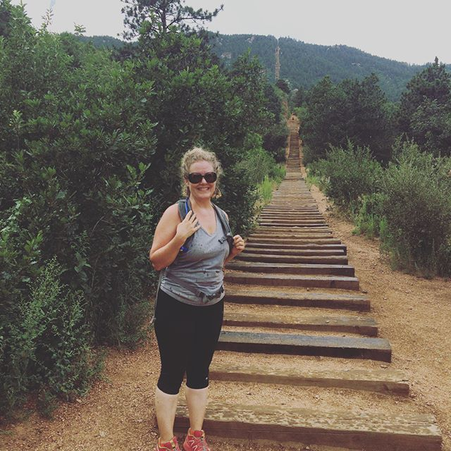 Manitou Springs Incline over 2000 miles straight up #Incline #colorado #stairmaster #pain