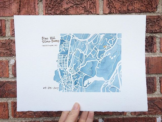 Tarrytown New York #weddingmap #goldhearts #love